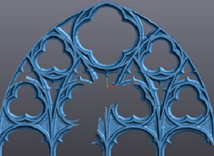 3-D scan of tracery units