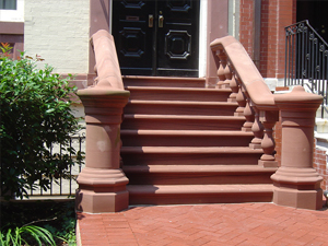 Entry steps and newel posts